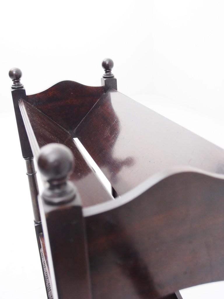 アンティーク家具 アンティーク マガジンラック 本 整理 マホガニー 玄関収納 玄関 ツインアンティークス