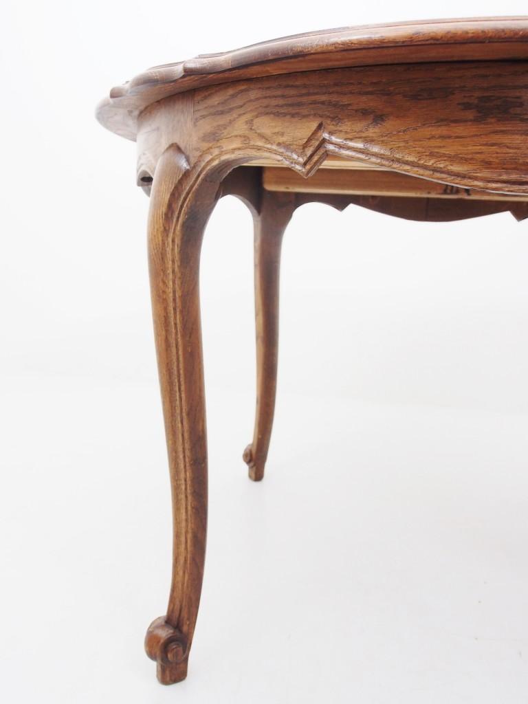アンティーク家具 アンティーク フレンチ ダイニングテーブル エクステンションテーブル パーケットリー 猫脚 ネコ脚テーブル テーブル ツインアンティークス